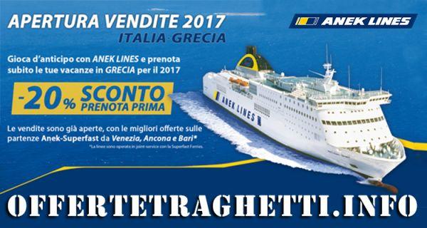 Prenota Prima Traghetto per la Grecia Estate 2017