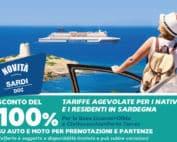 Offerta con auto Gratis per i residenti in Sardegna, Grimaldi Lines