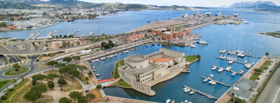 Il porto di Olbia in Sardegna