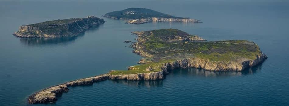 Isole Tremiti dall'alto