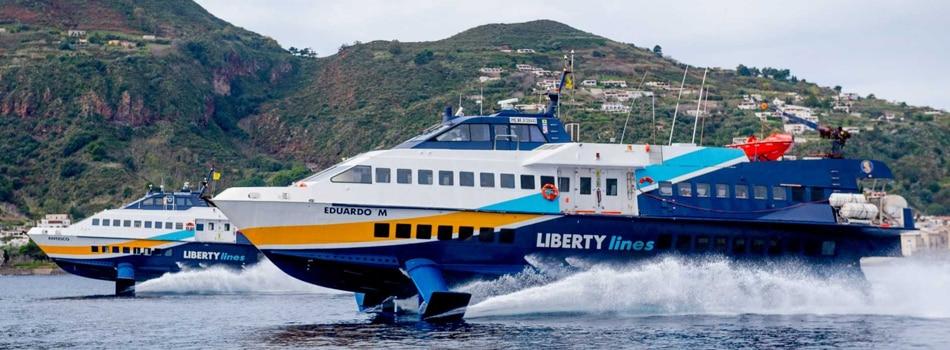 Traghetti Milazzo Lipari, Aliscafi LIberty Lines